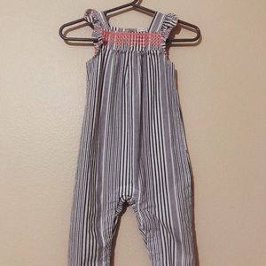 Striped baby girl jumpsuit